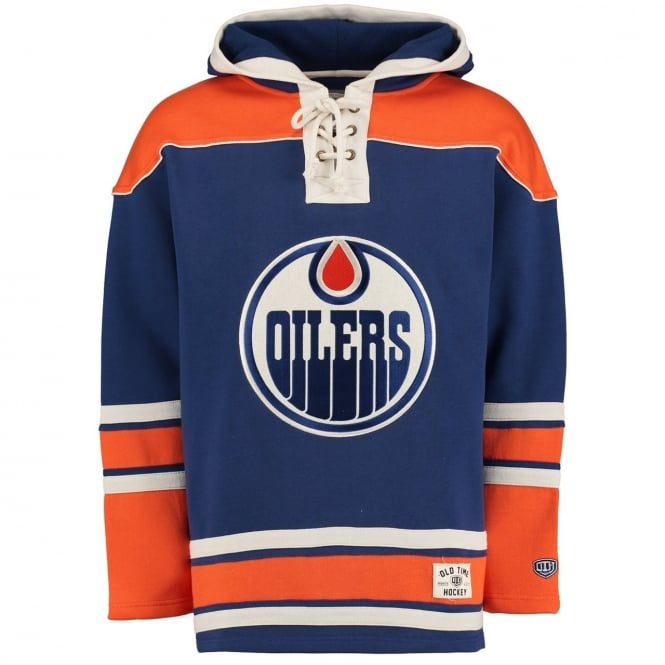 Old Time Hockey NHL Edmonton Oilers Lace Jersey Hood