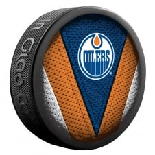 NHL Edmonton Oilers Shadow/Stitch Hockey Puck