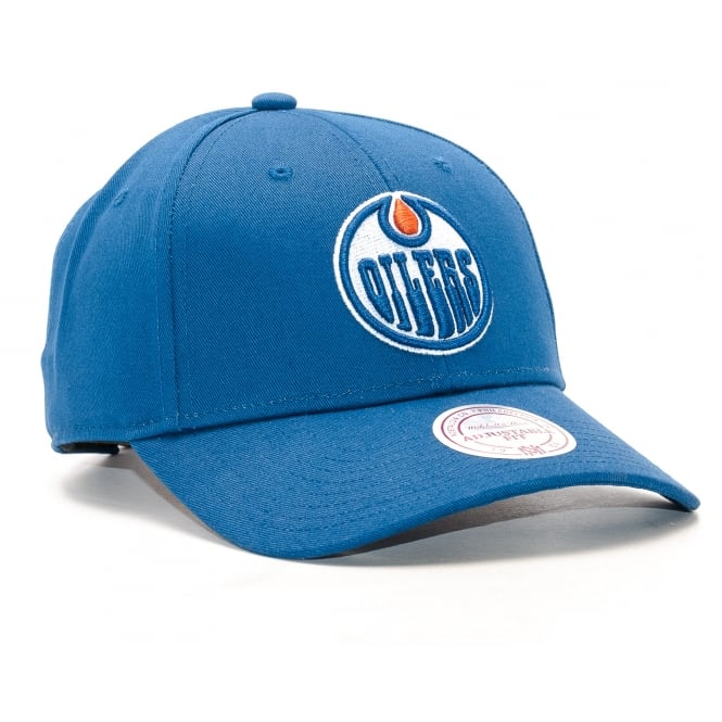Mitchell & Ness NHL Edmonton Oilers Team Logo Low Profile Strapback