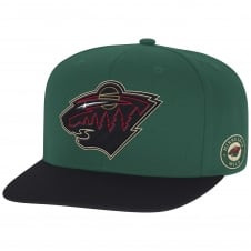 NHL Minnesota Wild Face Off Two Tone Snapback Cap