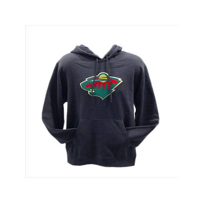 Majestic Athletic NHL Minnesota Wild Felt Tek Pullover Hood