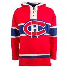 NHL Montreal Canadiens Red Lace Jersey Hood