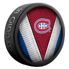 NHL Montreal Canadiens Shadow/Stitch Hockey Puck