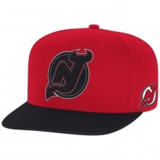 NHL New Jersey Devils Face Off Two Tone Snapback Cap
