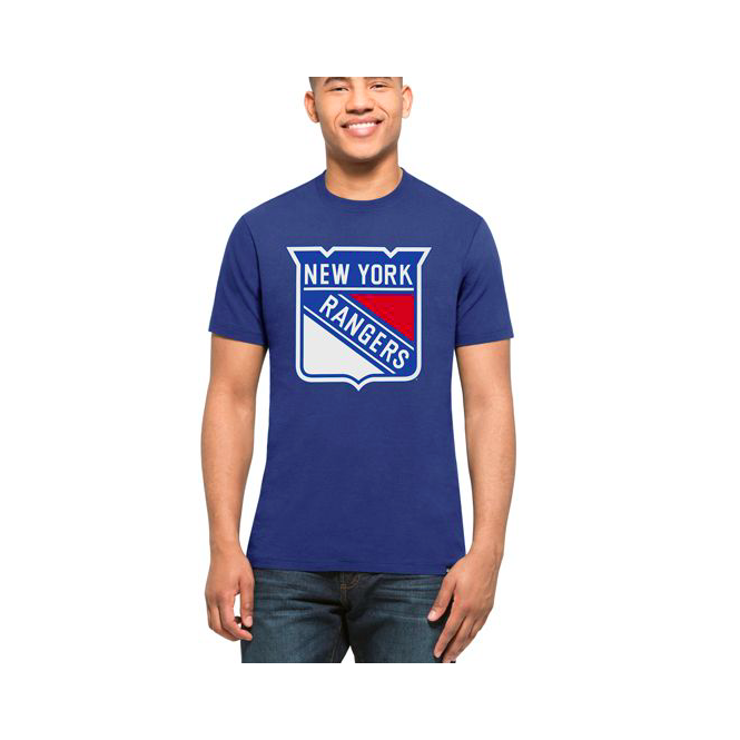 '47 NHL New York Rangers Blue Splitter T-Shirt