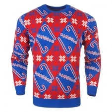 NHL New York Rangers Candy Cane Ugly Sweater