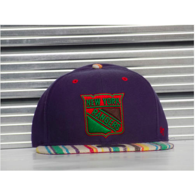 '47 NHL New York Rangers Colour Stripe Fitted Cap