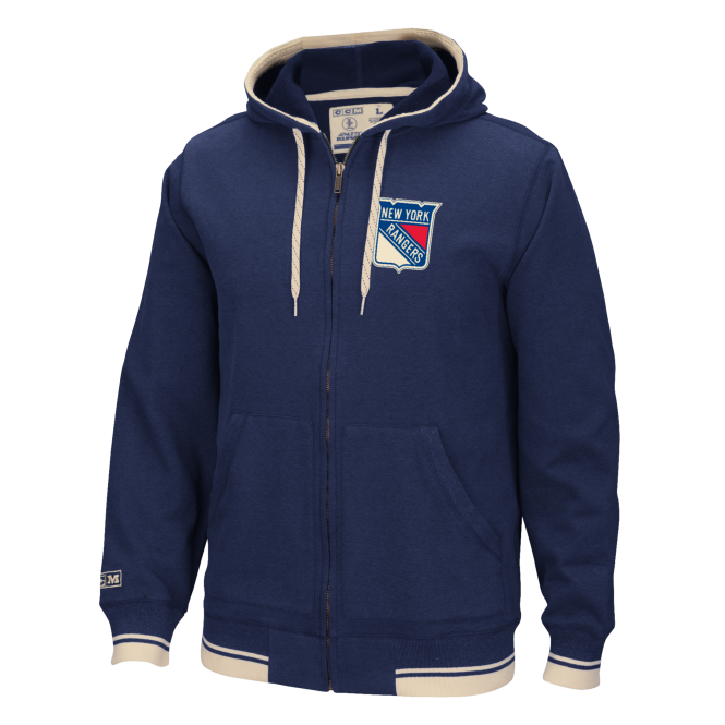 CCM NHL New York Rangers Fleece Full-Zip Hood
