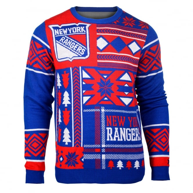 Forever Collectibles NHL New York Rangers Patches Ugly Sweater