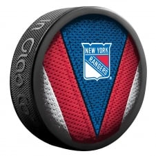 NHL New York Rangers Shadow/Stitch Hockey Puck