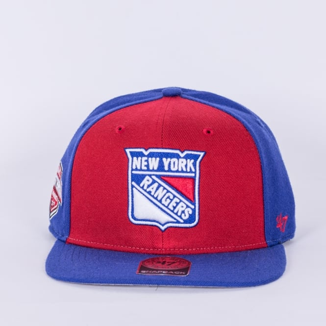 '47 NHL New York Rangers Sure Shot Captain Snapback Cap