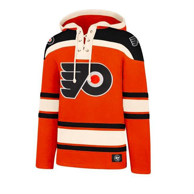 newest c9d81 91ce4 NHL Philadelphia Flyers Lacer Jersey Hood