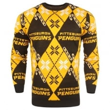 NHL Pittsburgh Penguins Candy Cane Ugly Sweater
