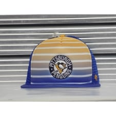 NHL Pittsburgh Penguins Mesh Dome Yellow & Blue Snapback