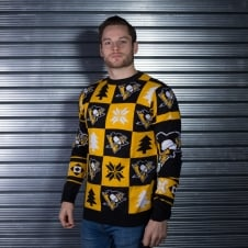 NHL Pittsburgh Penguins Patches Ugly Sweater