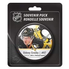 NHL Pittsburgh Penguins Sidney Crosby Star Player Hockey Puck