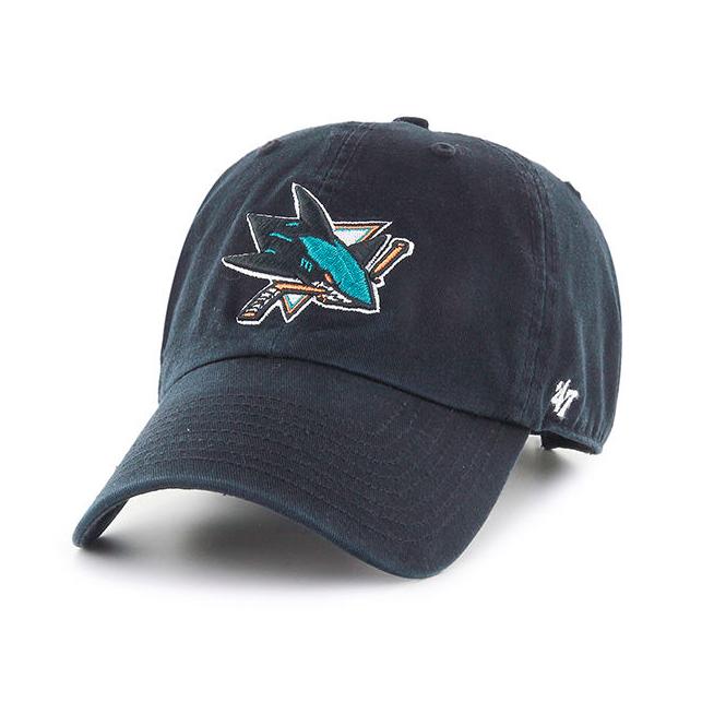 47 NHL San Jose Sharks Clean Up Adjustable Cap - Headwear from USA ... 783ead47bb0b