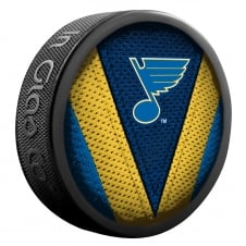 NHL St. Louis Blues Shadow/Stitch Hockey Puck