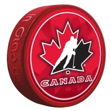 NHL Team Canada Shadow/Stitch Hockey Puck