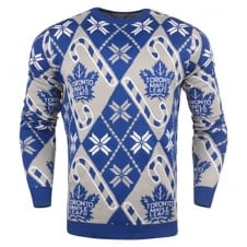 NHL Toronto Maple Leafs Candy Cane Ugly Sweater