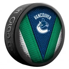 NHL Vancouver Canucks Shadow/Stitch Hockey Puck