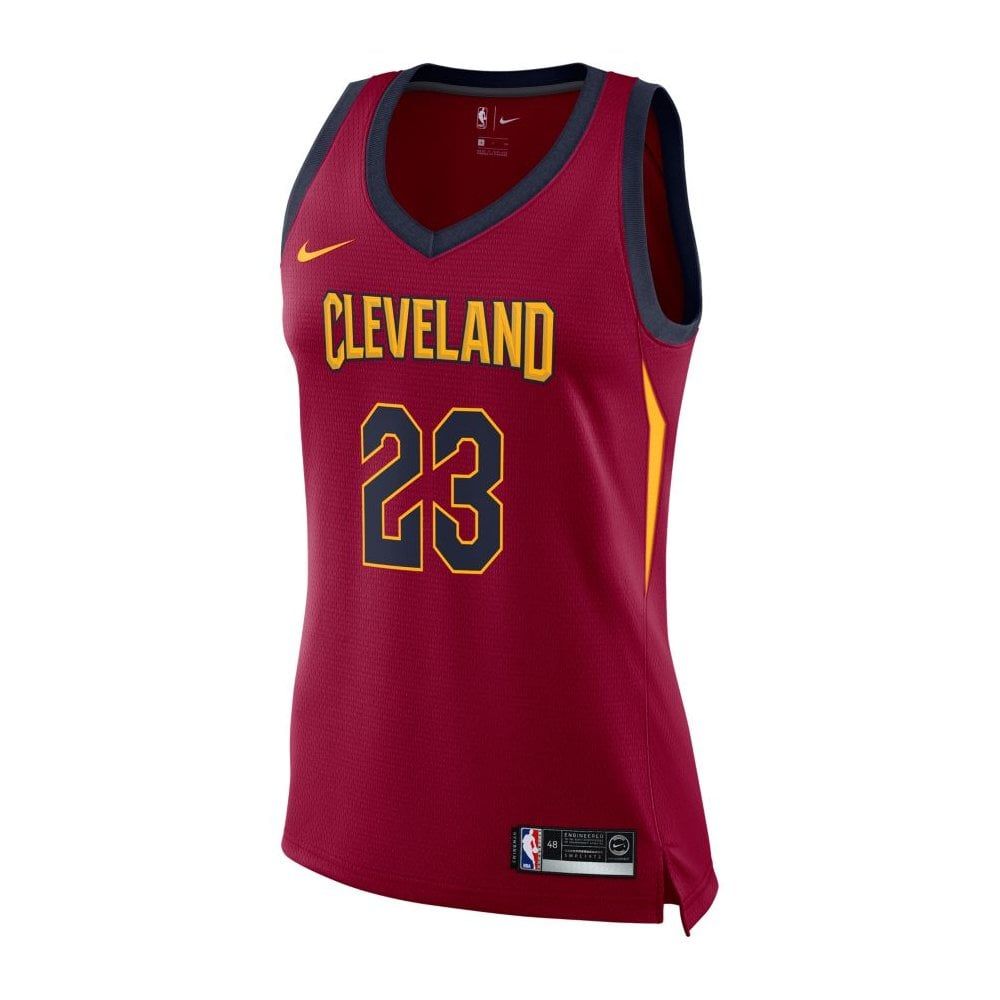 3872bf39 NBA Cleveland Cavaliers LeBron James Swingman Women's Jersey - Icon  Edition
