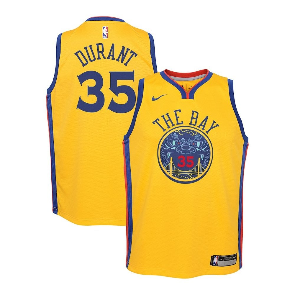 1835fe1cf NBA Golden State Warriors Kevin Durant Youth Swingman Jersey - City Edition