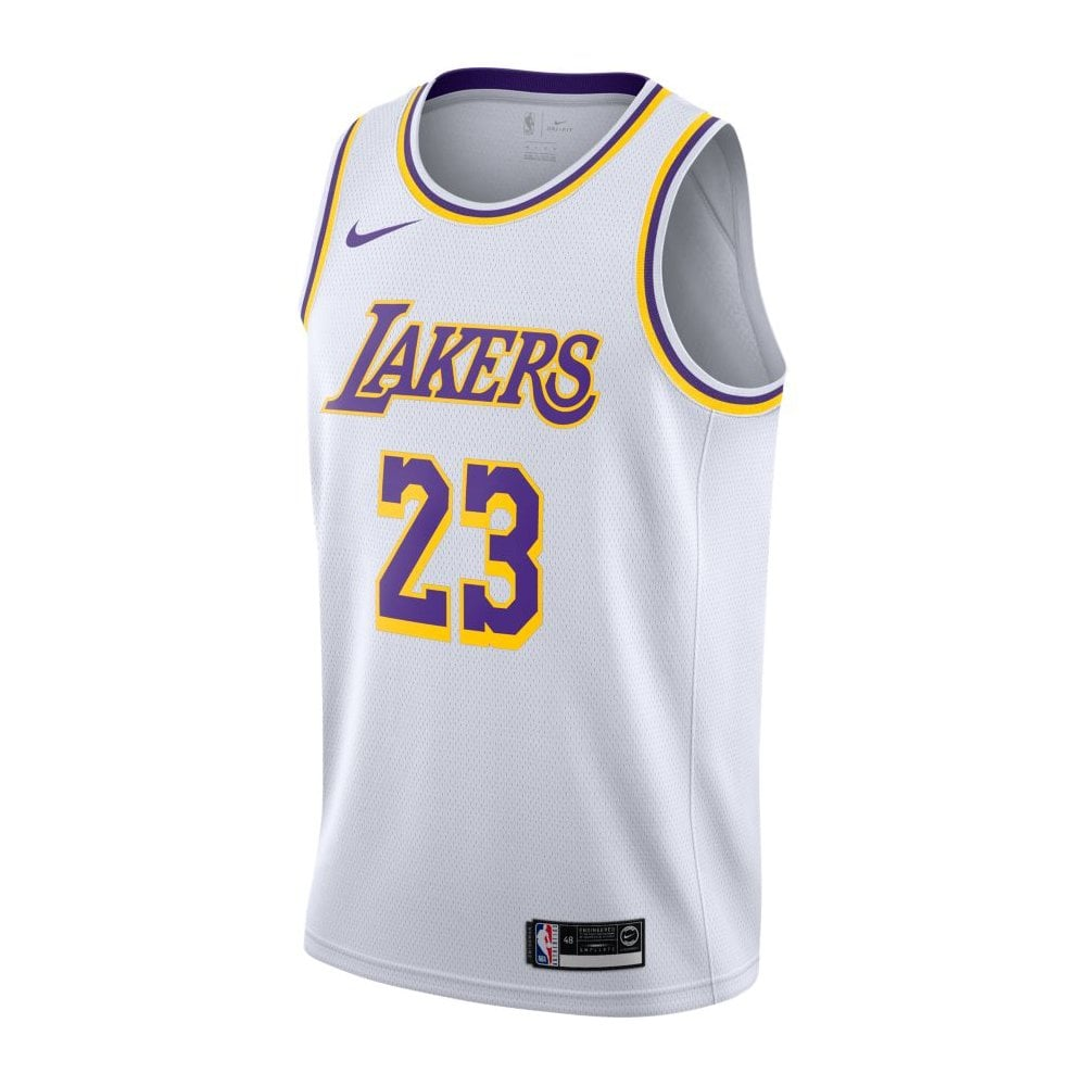 official photos c593e 92158 NBA Los Angeles Lakers LeBron James Swingman Jersey - Association Edition