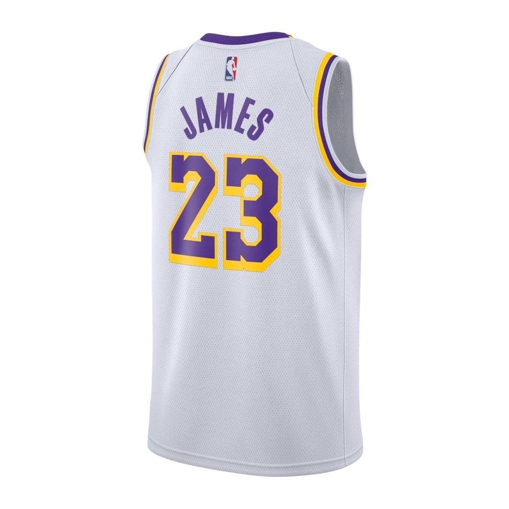 official photos 3888b 11afe NBA Los Angeles Lakers LeBron James Swingman Jersey - Association Edition