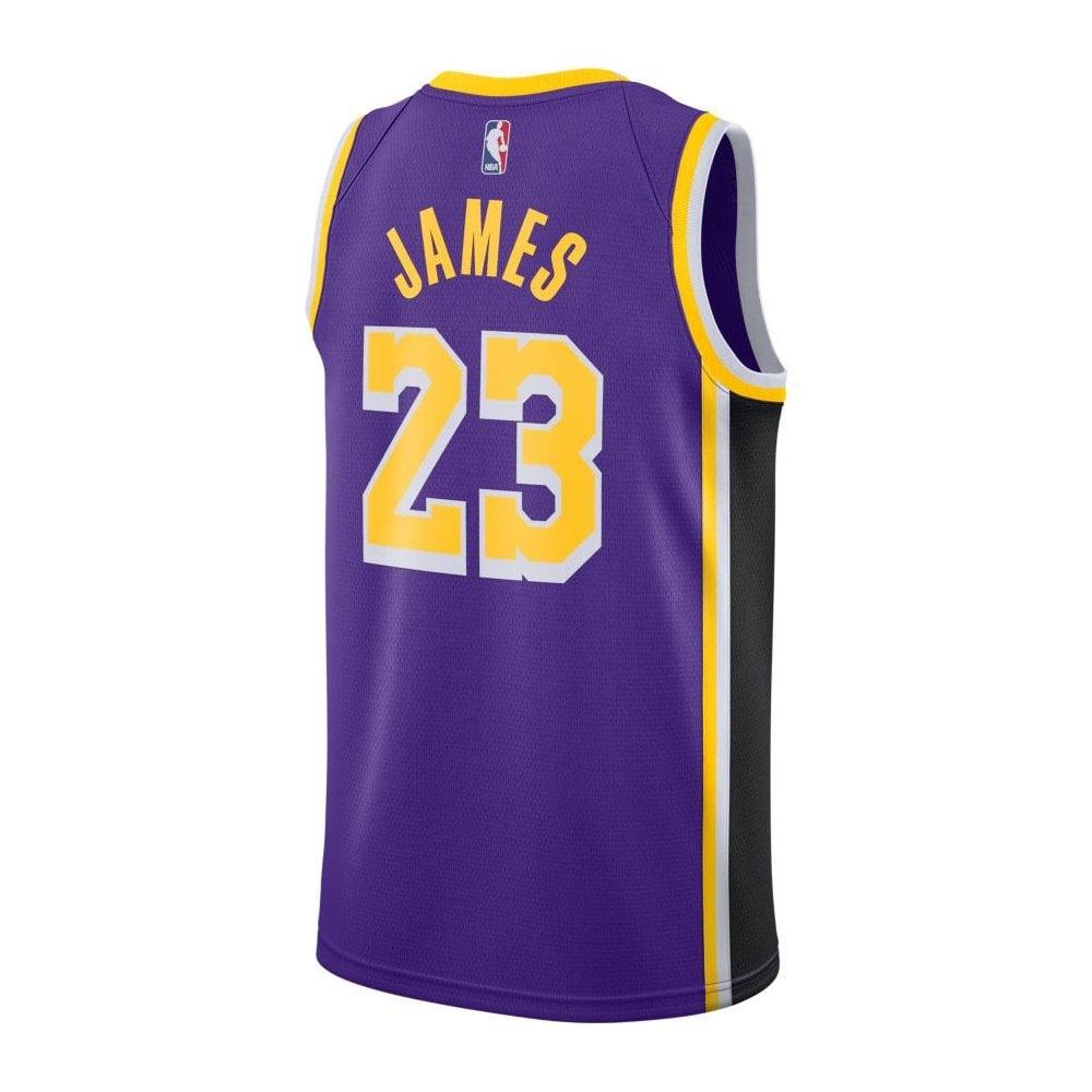 timeless design 4ac11 48259 NBA Los Angeles Lakers LeBron James Swingman Jersey - Statement Edition