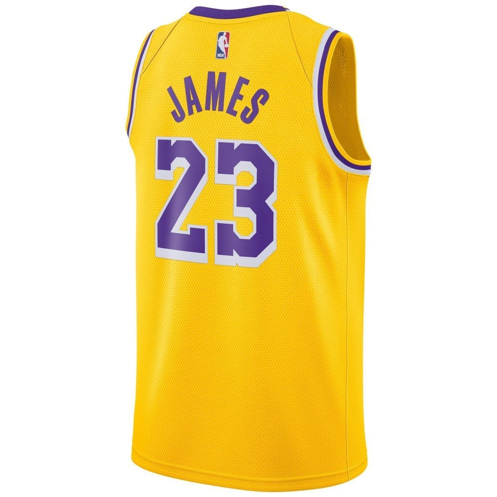 new concept f3270 4d234 NBA Los Angeles Lakers LeBron James Youth Swingman Jersey - Icon Edition