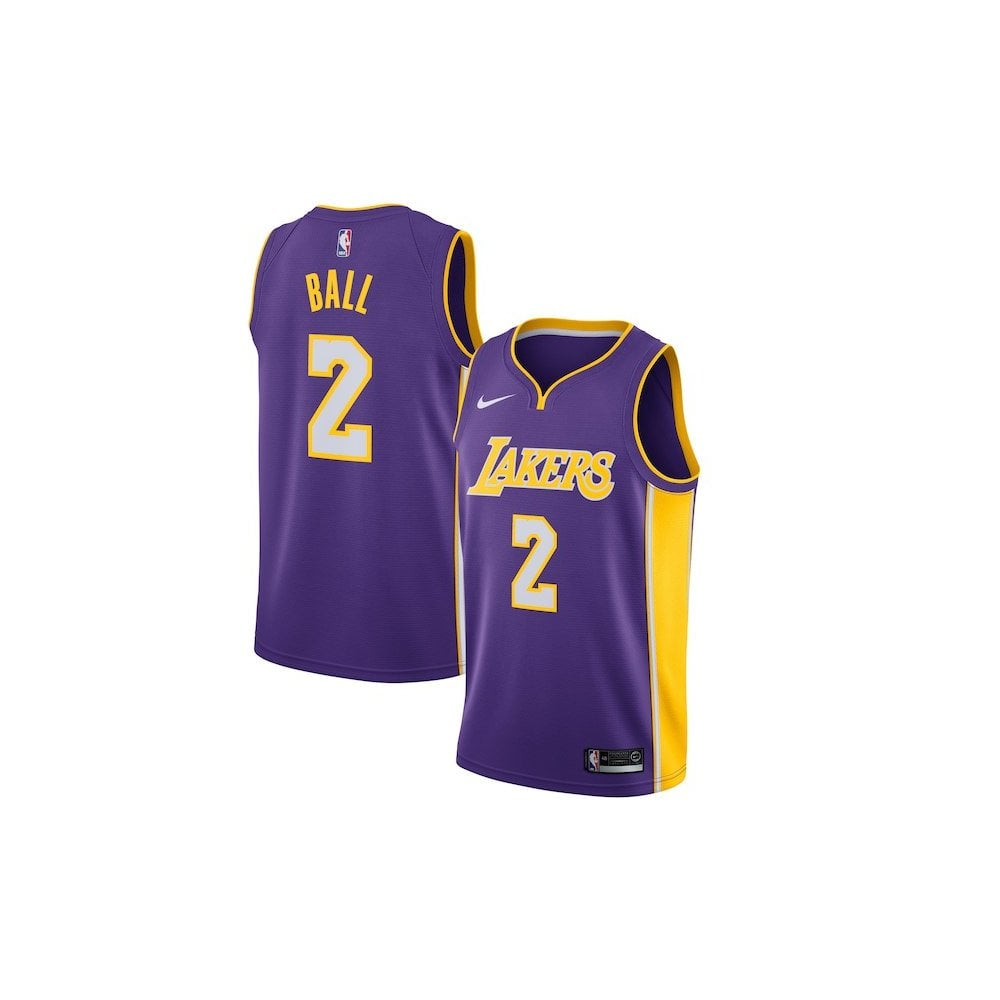 c2820737 Nike NBA Los Angeles Lakers Lonzo Ball Purple Swingman Jersey - Icon ...