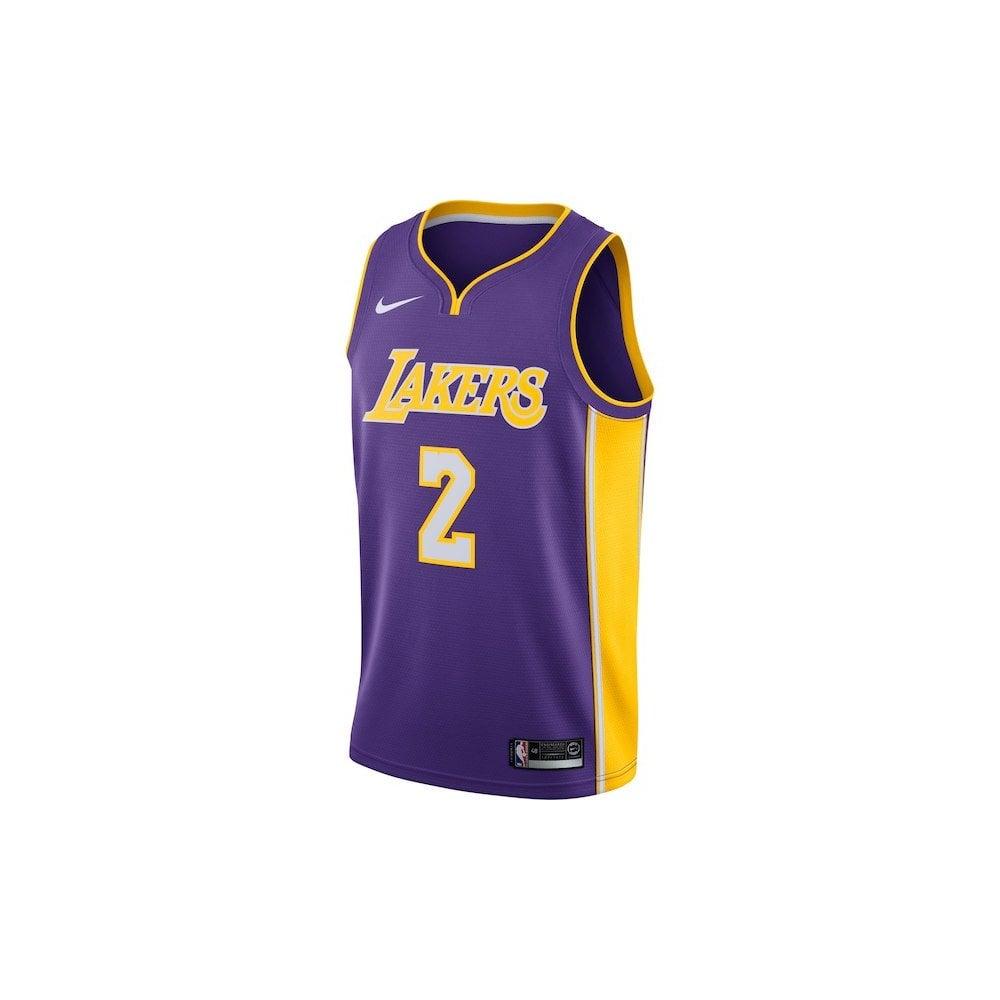 81aef81ad70 Nike NBA Los Angeles Lakers Lonzo Ball Purple Swingman Jersey - Icon ...