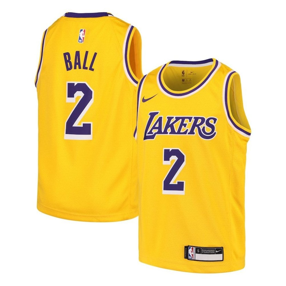 reputable site 8fd86 97141 NBA Los Angeles Lakers Lonzo Ball Swingman Jersey - Icon Edition