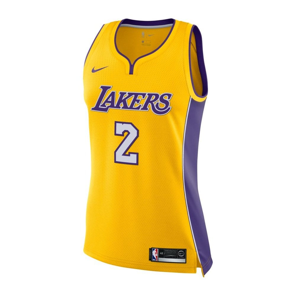 NBA Los Angeles Lakers Lonzo Ball Swingman Women  039 s Jersey - Icon  Edition 22db3c160
