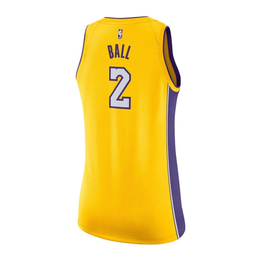Women s. NBA Los Angeles Lakers Lonzo Ball Swingman Women  039 s Jersey -  Icon Edition b1214e9ea