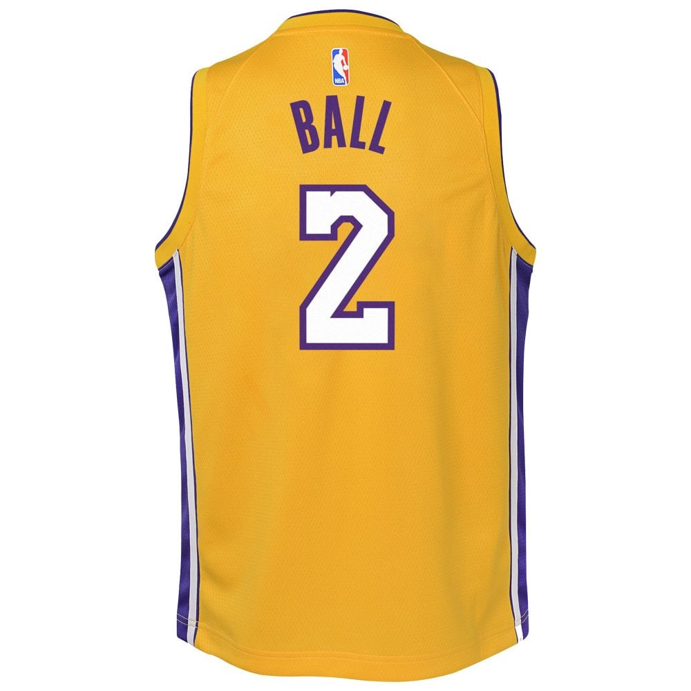 check out 418e3 478c2 NBA Los Angeles Lakers Lonzo Ball Youth Swingman Jersey - Icon Edition