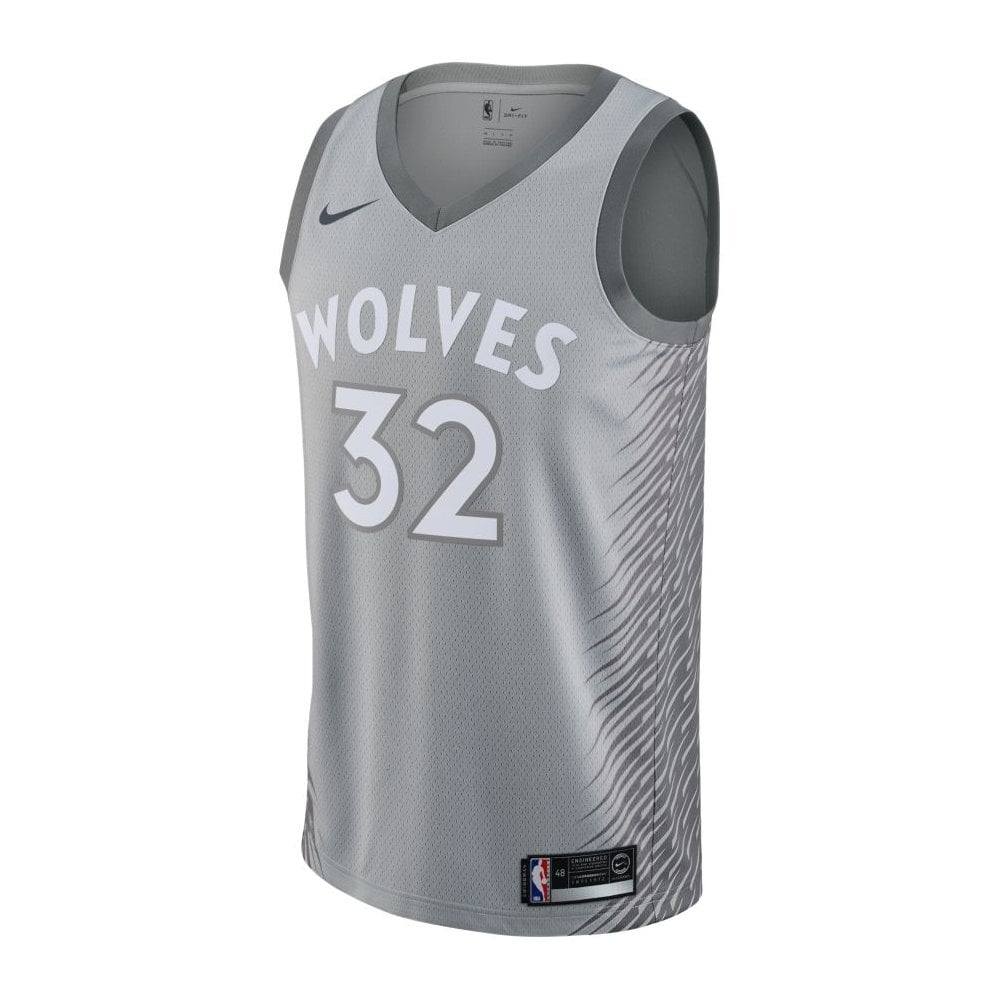 uk availability bb102 7de85 NBA Minnesota Timberwolves Karl-Anthony Towns Swingman Jersey - City Edition