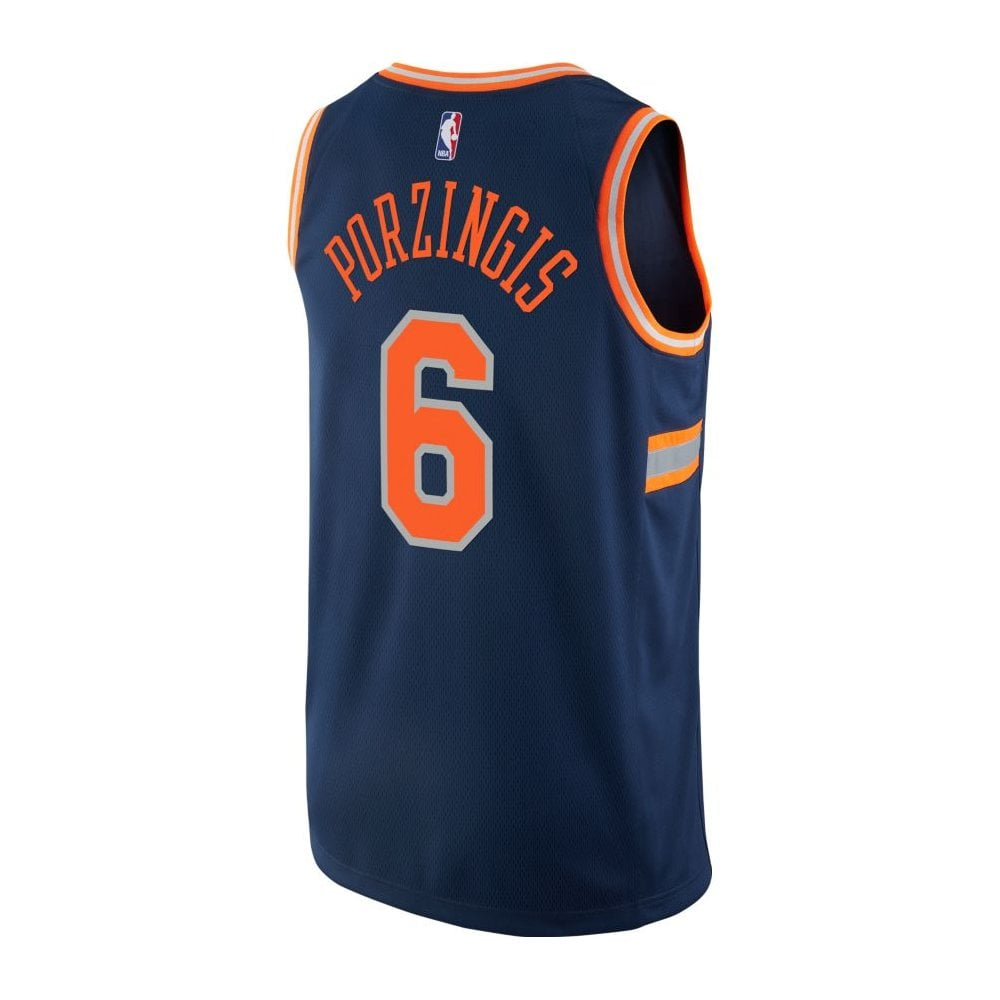 sports shoes 5574f 28abc NBA New York Knicks Kristaps Porzingis Swingman Jersey - City Edition