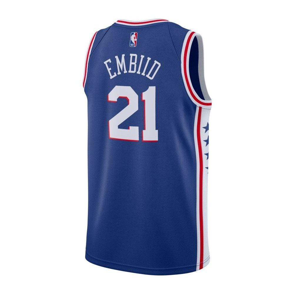 finest selection eb8d6 c2d30 NBA Philadelphia 76ers Joel Embiid Swingman Jersey - Icon Edition