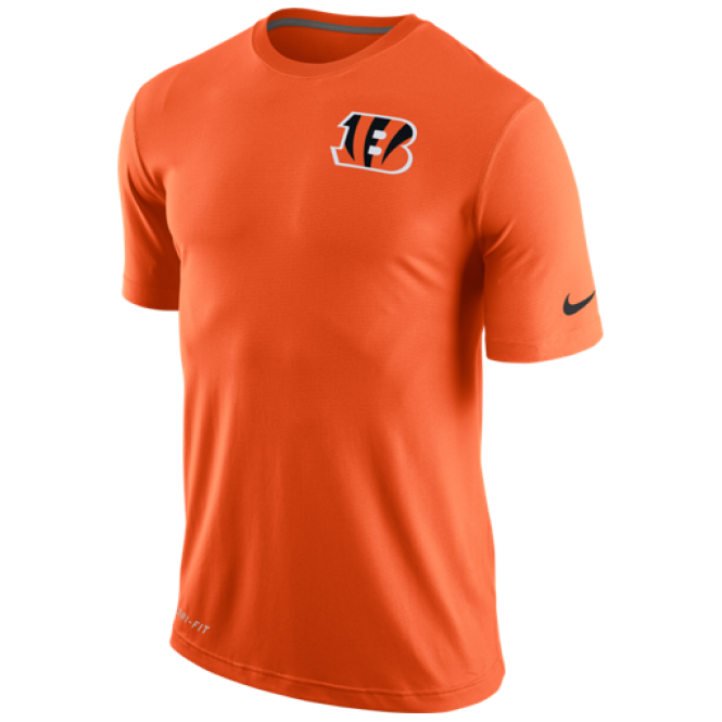 Nike NFL Cincinnati Bengals Stadium Touch Performance Dri-Fit T-Shirt