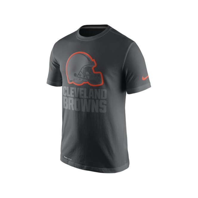 Nike NFL Cleveland Browns Anthracite Travel T-Shirt