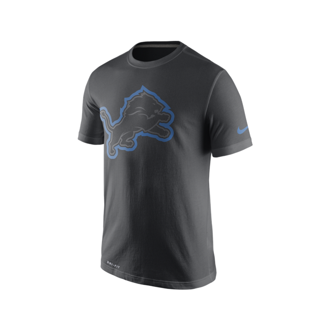 Nike NFL Detroit Lions Anthracite Travel T-Shirt