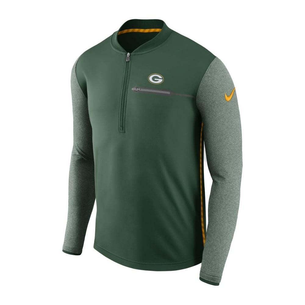 Coach Bay Green Half-zip Nfl Packers Top