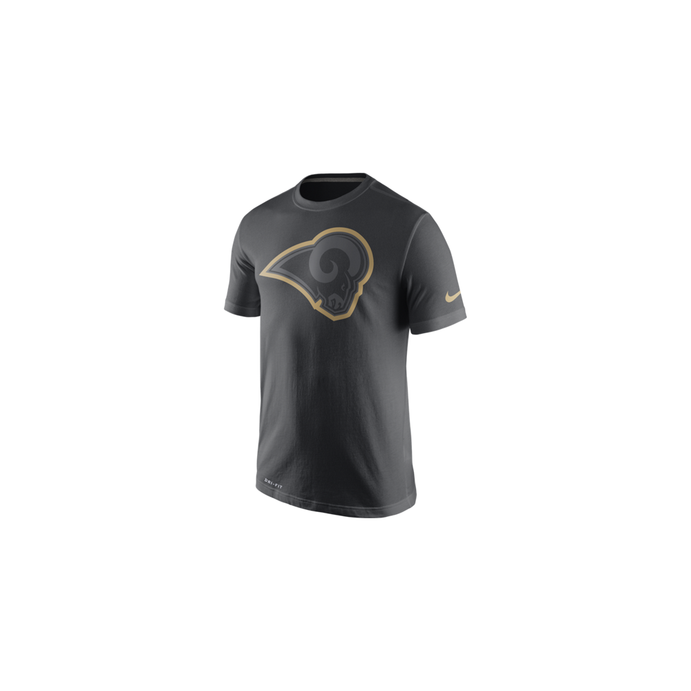 Nike NFL Los Angeles Rams Anthracite Travel T-Shirt - Teams from USA ... c294e338dae