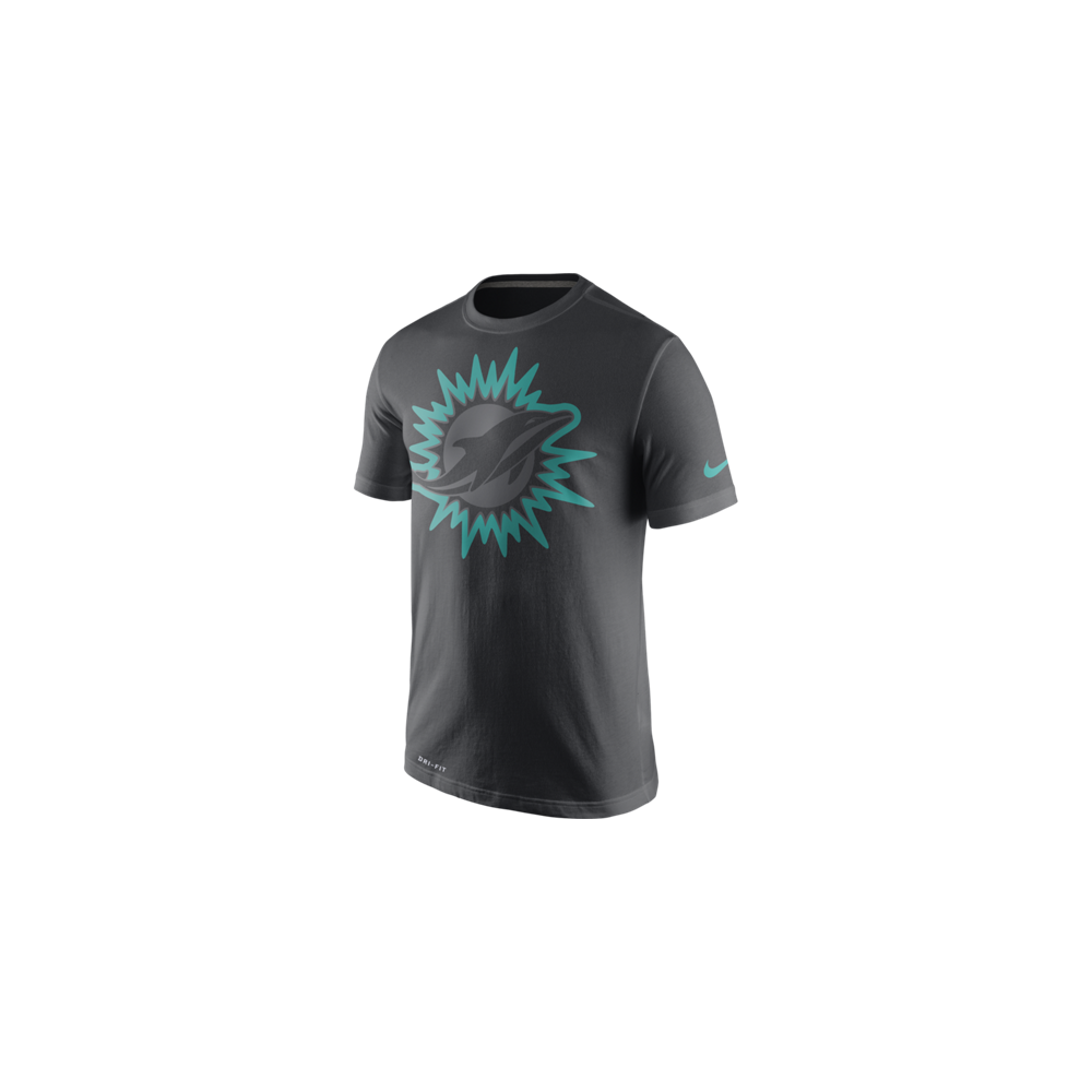 Nike NFL Miami Dolphins Anthracite Travel T-Shirt - Teams from USA ... 979664170