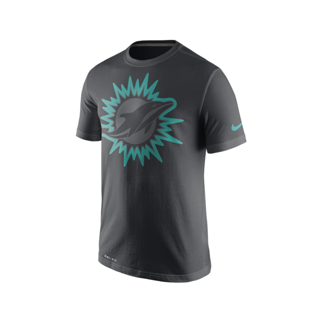 Nike NFL Miami Dolphins Anthracite Travel T-Shirt