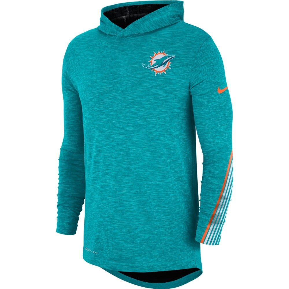 to buy cheap price special section NFL Miami Dolphins Sideline Scrimmage Performance T-Shirt Hood