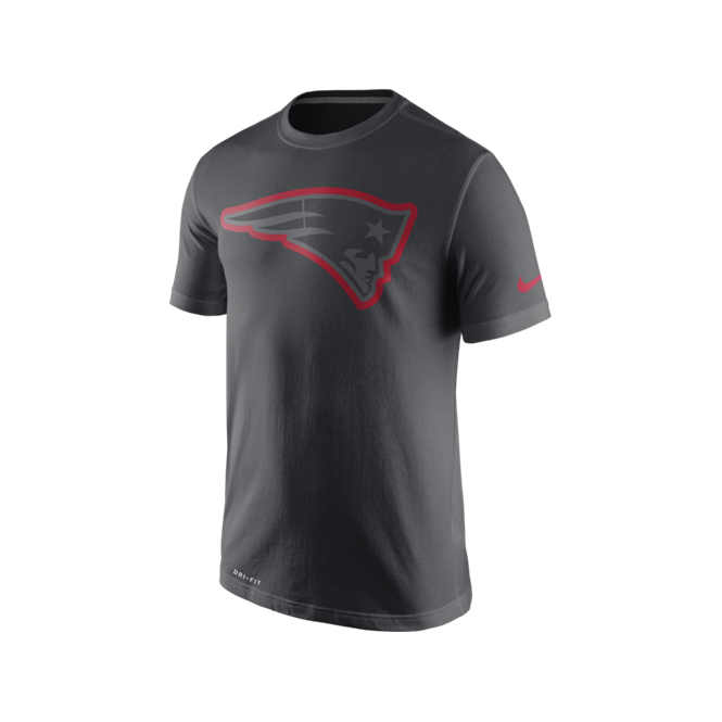 322a09de Nike NFL New England Patriots Anthracite Travel T-Shirt - Teams from ...
