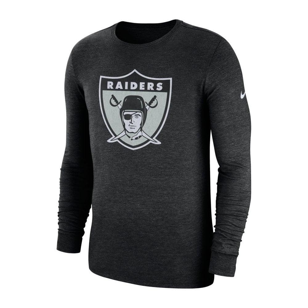 5a5e89c6 NFL Oakland Raiders Crackle Historic Tri-Blend Long Sleeve T-Shirt